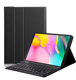Lunso Lunso - afneembare Keyboard hoes - Samsung Galaxy Tab S5e 10.5 - Zwart