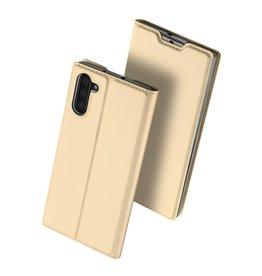 Dux Ducis Dux Ducis - pro serie slim wallet hoes - Samsung Galaxy Note 10 - Goud