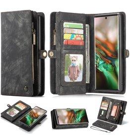 Caseme Caseme - vintage 2 in 1 portemonnee hoes - Samsung Galaxy Note 10 - Zwart
