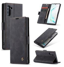Caseme Caseme - stijlvolle wallet hoes - Samsung Galaxy Note 10 - Zwart