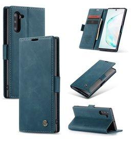 Caseme Caseme - stijlvolle wallet hoes - Samsung Galaxy Note 10 - Lichtblauw