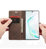 Caseme Stijlvolle wallet hoes Coffee voor de Samsung Galaxy Note 10 Plus