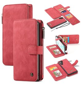 Caseme Caseme - luxe portemonnee hoes - Samsung Galaxy Note 10 Plus - Rood