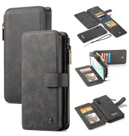 Caseme Caseme - luxe portemonnee hoes - Samsung Galaxy Note 10 - Zwart