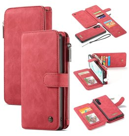 Caseme Caseme - luxe portemonnee hoes - Samsung Galaxy Note 10 - Rood