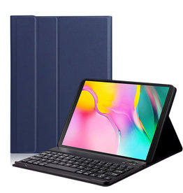 Lunso Lunso - afneembare Keyboard hoes - Samsung Galaxy Tab A 10.1 (2019) - Blauw