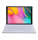 Lunso Afneembare Keyboard hoes Goud voor de Samsung Galaxy Tab A 10.1 (2019)