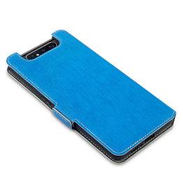 Qubits Qubits - slim wallet hoes - Samsung Galaxy A80 - Lichtblauw