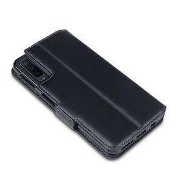 Qubits Qubits - lederen slim folio wallet hoes - Samsung Galaxy A80 - Zwart