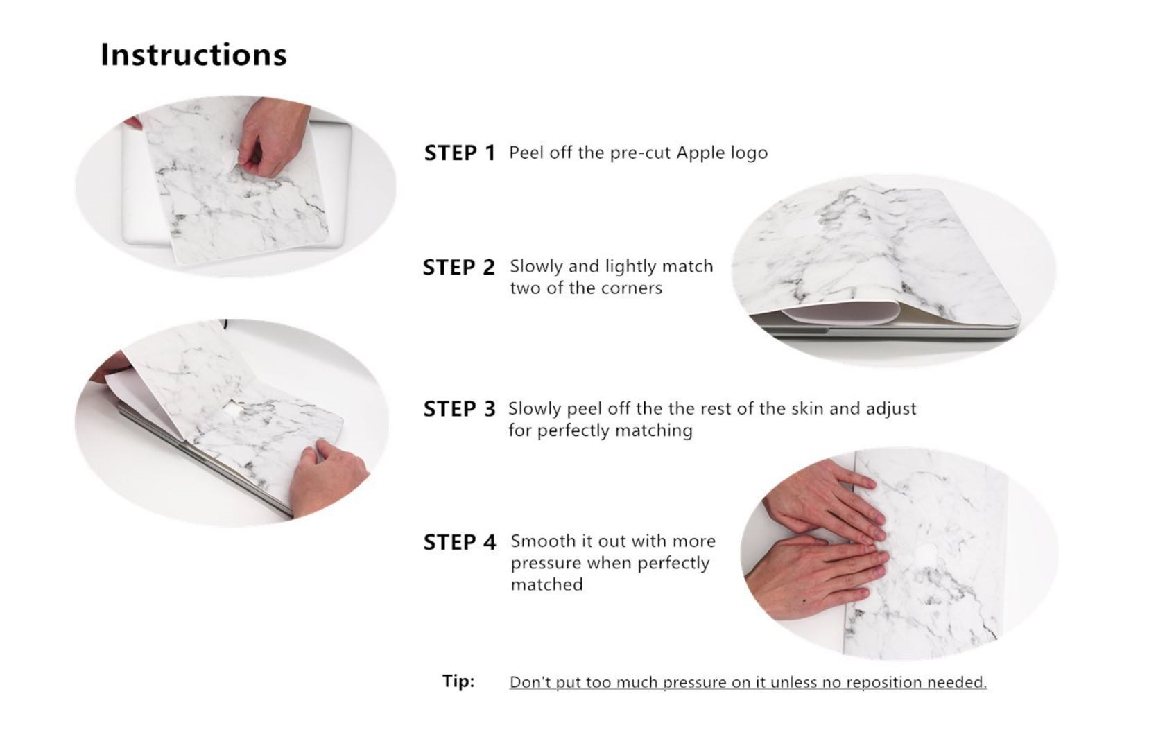 Lunso Flower White vinyl sticker voor de MacBook Air 13 inch (2010-2017)