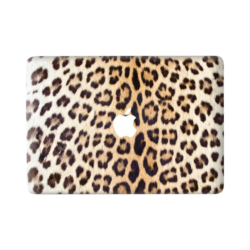 Lunso Leopard Brown vinyl sticker voor de MacBook Air 13 inch (2010-2017)