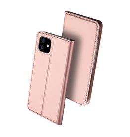 Dux Ducis Dux Ducis - pro serie slim wallet hoes - iPhone 11 - Rose Goud