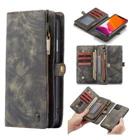 Caseme Caseme - vintage 2 in 1 portemonnee hoes - iPhone 11 Pro Max - Grijs