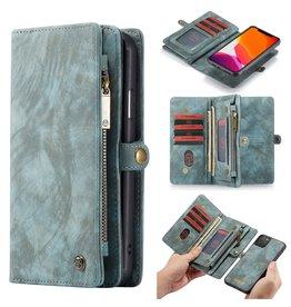 Caseme Caseme - vintage 2 in 1 portemonnee hoes - iPhone 11 Pro Max - Blauw
