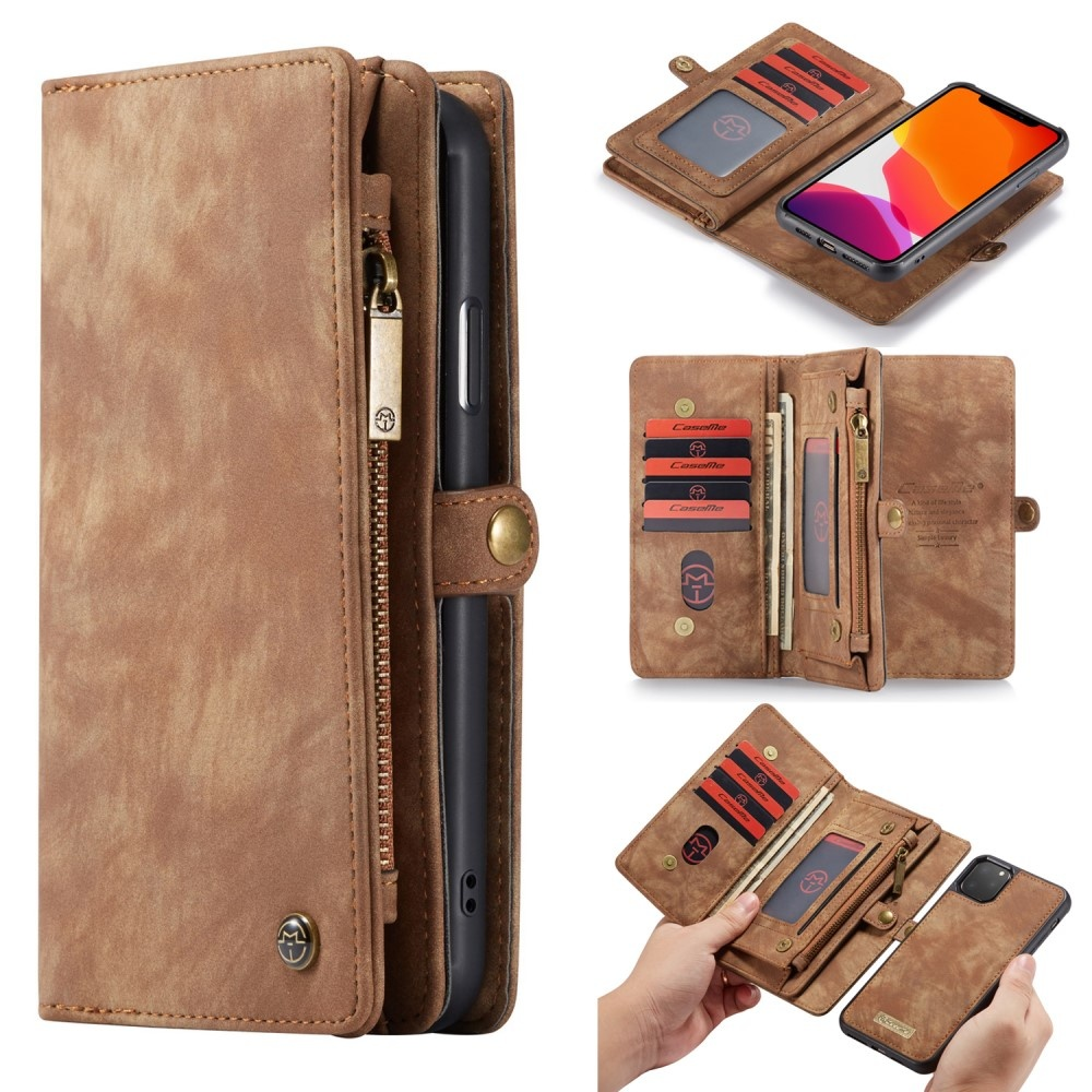Caseme 2 in 1 portemonnee hoes iPhone 11 Pro Max Bruin   CasualCases
