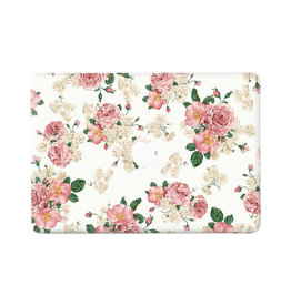 Lunso Lunso - vinyl sticker - MacBook Air 13 inch (2018-2019) - Flower Pink