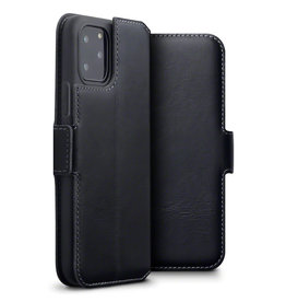 Qubits Qubits - lederen slim folio wallet hoes - iPhone 11 Pro - Zwart