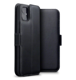 Qubits Qubits - lederen slim folio wallet hoes - iPhone 11 - Zwart