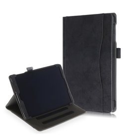 Lunso Luxe stand flip cover hoes - Samsung Galaxy Tab A 10.1 inch (2019) - Zwart