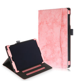 Lunso Luxe stand flip cover hoes - Samsung Galaxy Tab A 10.1 inch (2019) - Roze