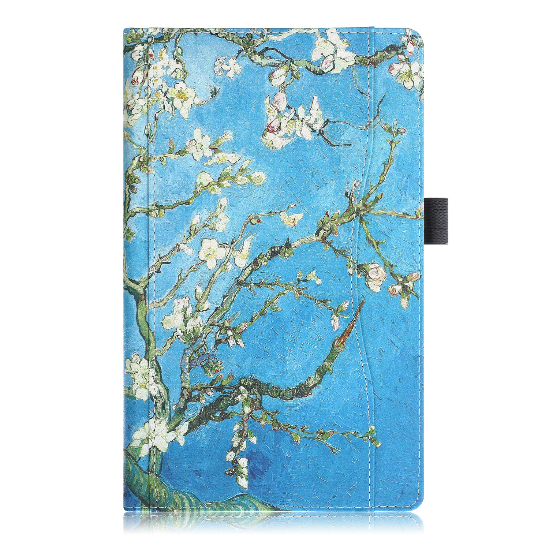 Lunso Luxe stand flip cover hoes Van Gogh Amandelboom voor de Samsung Galaxy Tab A 10.1 inch (2019)
