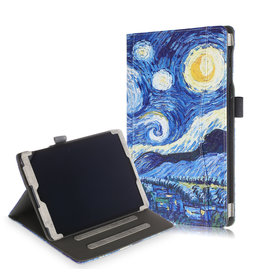 Lunso Luxe stand flip cover hoes - Samsung Galaxy Tab A 10.1 inch (2019) - Van Gogh Schilderij