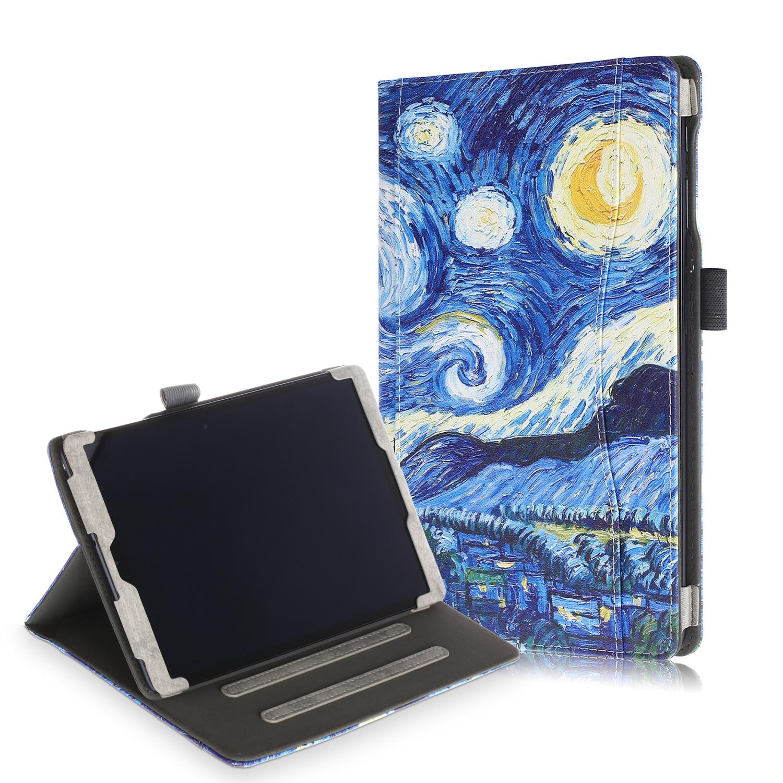 Lunso Luxe stand flip cover hoes Van Gogh Schilderij voor de Samsung Galaxy Tab A 10.1 inch (2019)