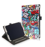 Lunso Luxe stand flip cover hoes Graffiti voor de Samsung Galaxy Tab A 10.1 inch (2019)