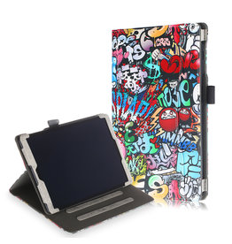 Lunso Luxe stand flip cover hoes - Samsung Galaxy Tab A 10.1 inch (2019) - Graffiti