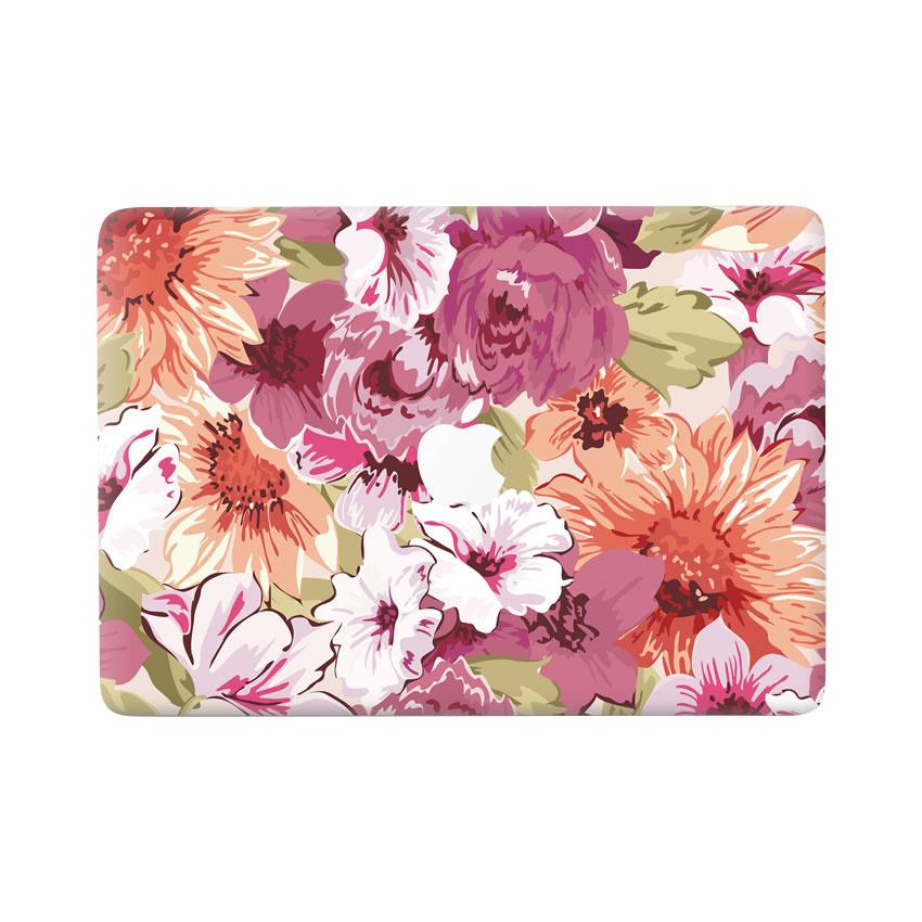 Lunso Flower Painting vinyl sticker voor de MacBook Pro 13 inch (2016-2019)