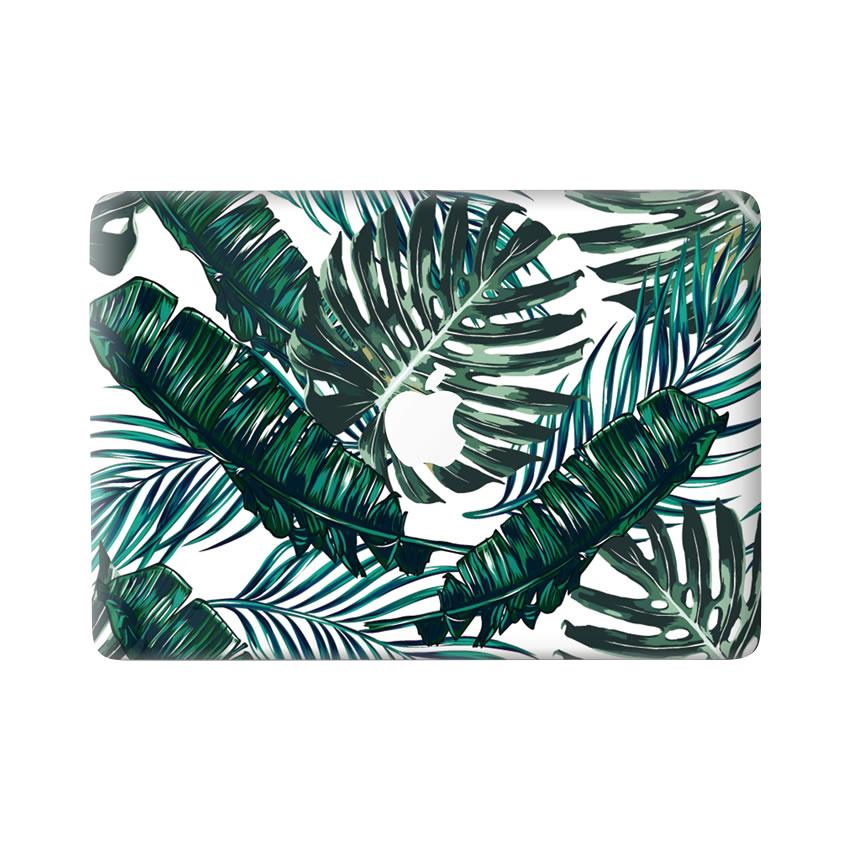 Lunso Green Leaves vinyl sticker voor de MacBook Pro 13 inch (2016-2019)