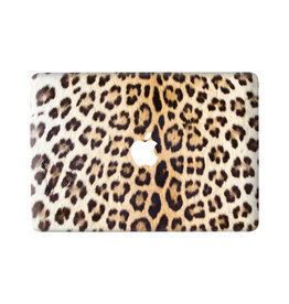 Lunso Leopard Brown vinyl sticker voor de MacBook Pro 13 inch (2016-2020)