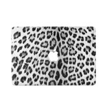 Lunso Leopard White vinyl sticker voor de MacBook Pro 13 inch (2016-2019)