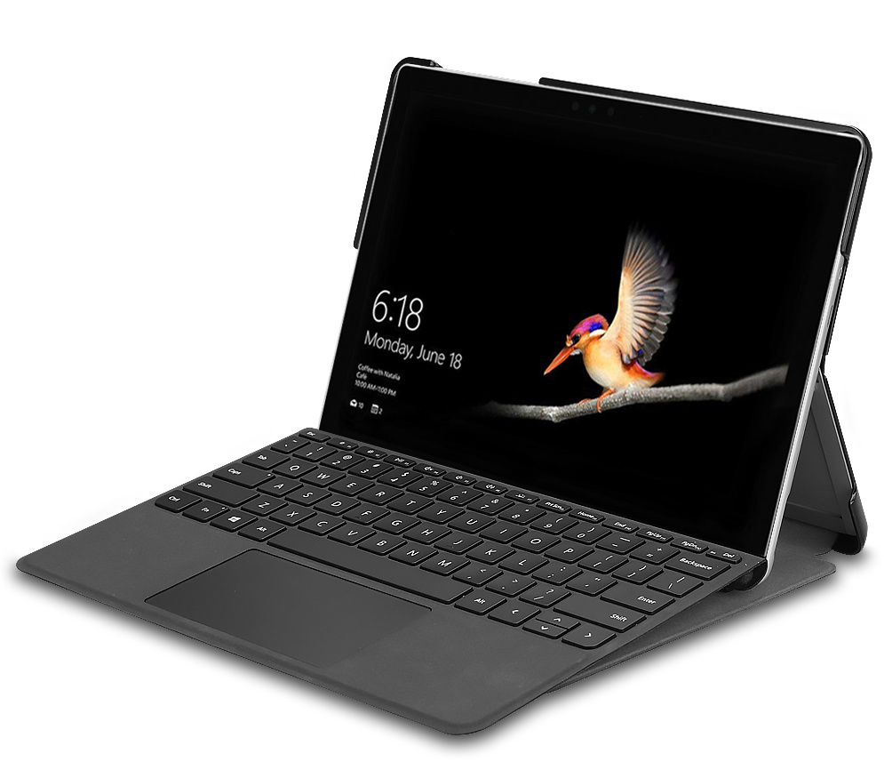Lunso 2-Vouw sleepcover hoes Wit voor de Microsoft Surface Go