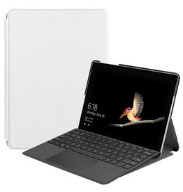 Lunso 2-Vouw sleepcover hoes - Microsoft Surface Go - Wit