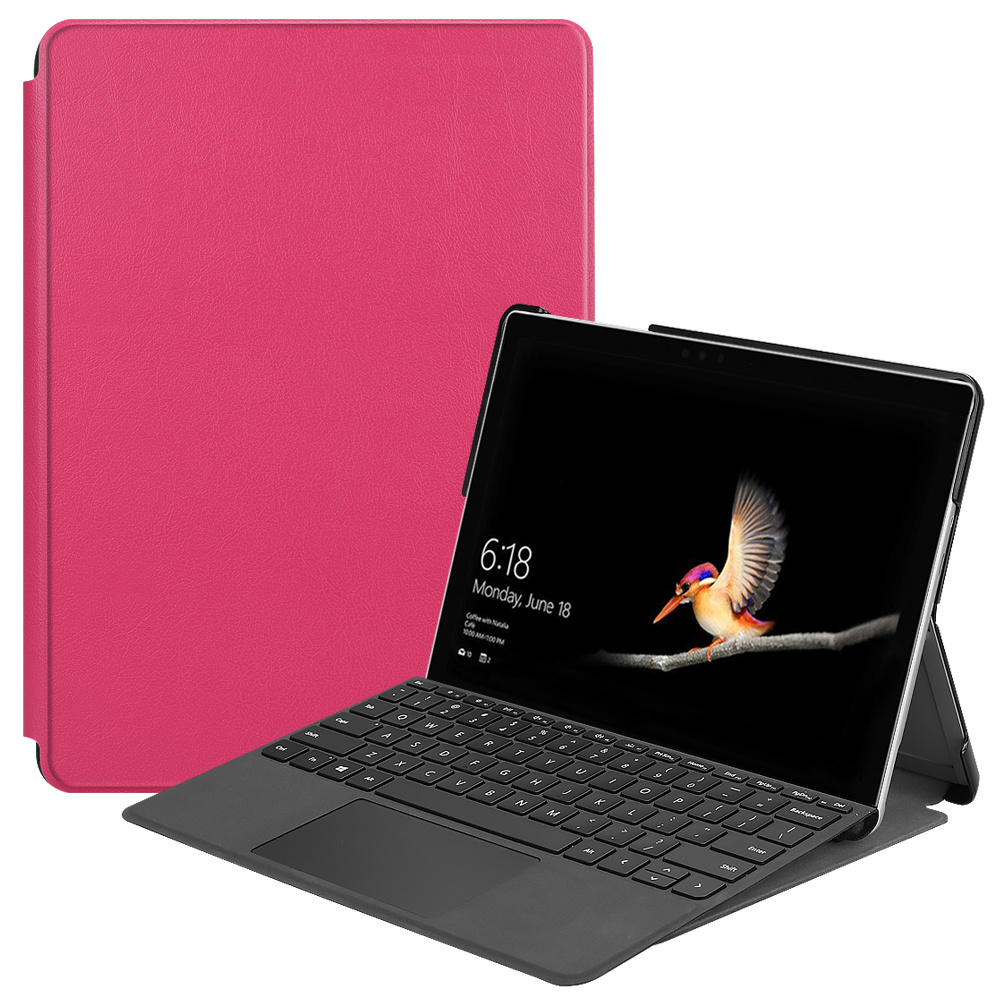 Lunso 2-Vouw sleepcover hoes Roze voor de Microsoft Surface Go