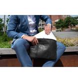 Chesterfield Glenn lederen laptop sleeve hoes Zwart voor 15 inch laptops