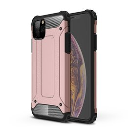 Lunso Lunso - Armor Guard hoes - iPhone 11 Pro Max - Rose Goud