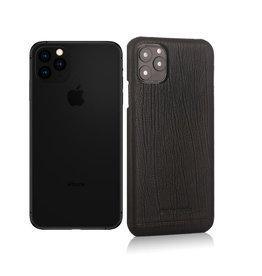Pierre Cardin Pierre Cardin - echt lederen backcover hoes - iPhone 11 Pro Max - Zwart
