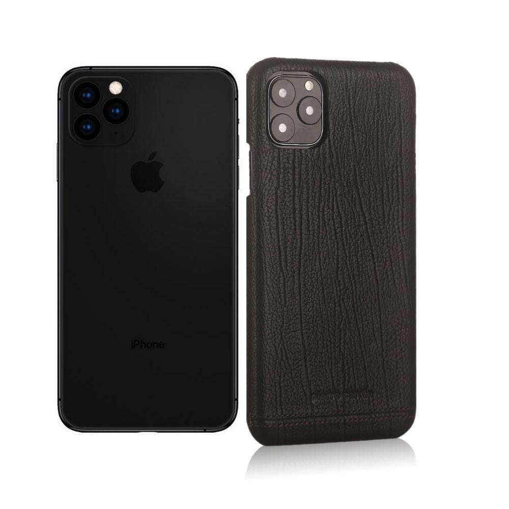 Pierre Cardin Echt lederen backcover hoes Zwart voor de iPhone 11 Pro Max