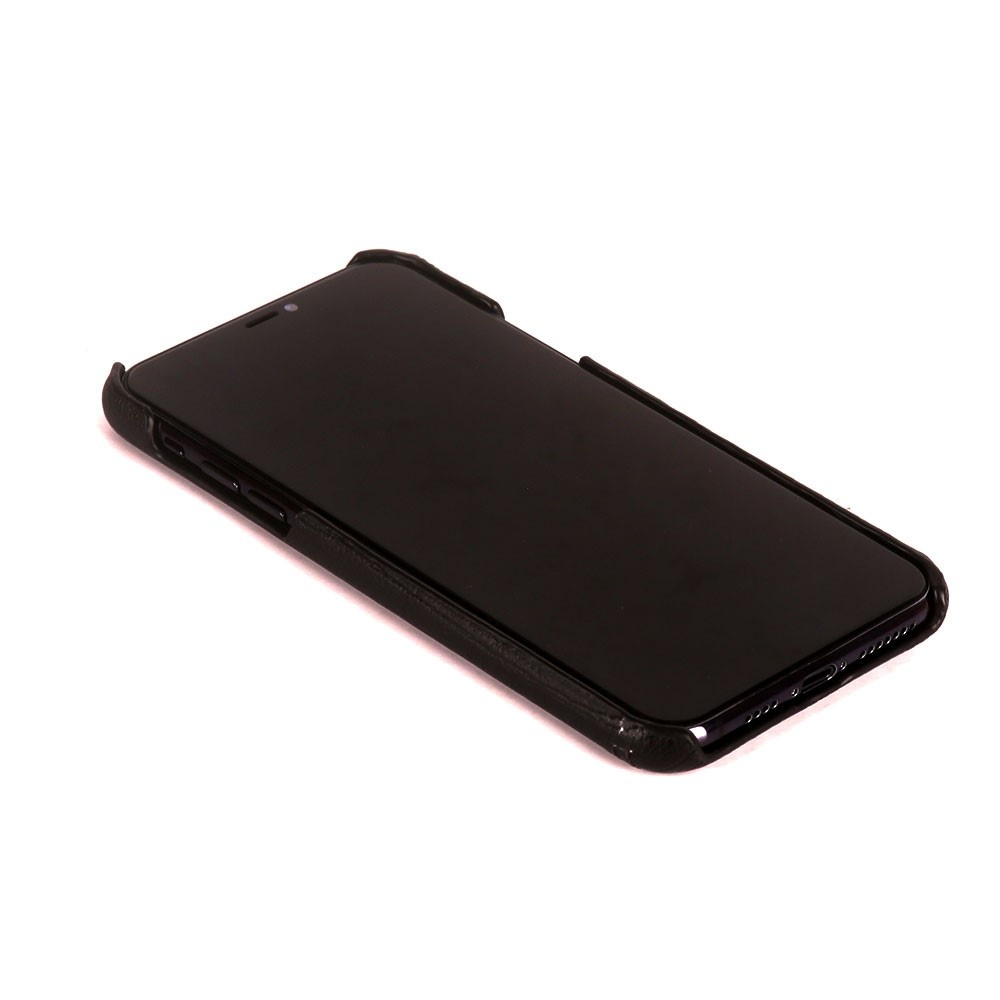 Pierre Cardin Echt lederen backcover hoes Coffee voor de iPhone 11 Pro Max