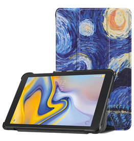 Lunso 3-Vouw sleepcover hoes - Samsung Galaxy Tab A 8.0 inch (2019) - Van Gogh Schilderij