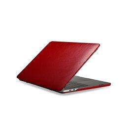 Icarer - echt lederen cover hoes - MacBook Pro 15 inch (2016-2020) - Rood