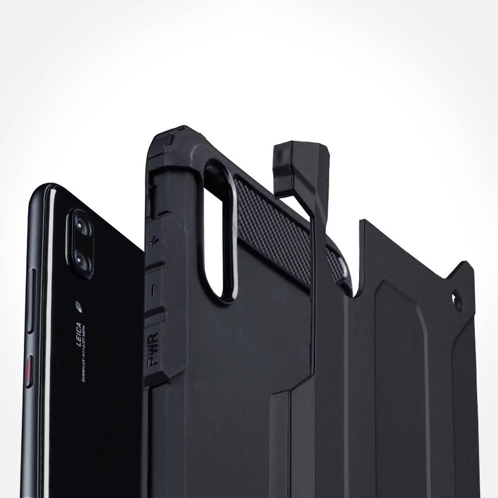 Lunso Armor Guard hoes donkerblauw voor de Motorola Moto G8 Plus