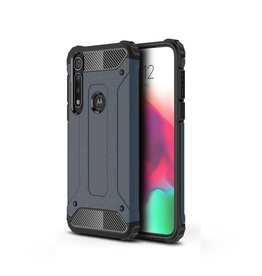 Lunso Lunso - Armor Guard hoes - Motorola Moto G8 Plus - Donkerblauw
