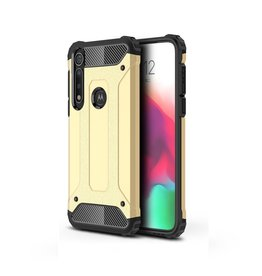 Lunso Lunso - Armor Guard hoes - Motorola Moto G8 Plus - Goud