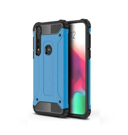 Lunso Lunso - Armor Guard hoes - Motorola Moto G8 Plus - Lichtblauw