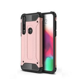 Lunso Lunso - Armor Guard hoes - Motorola Moto G8 Plus - Rose Goud