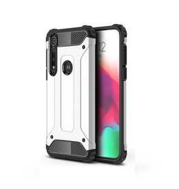 Lunso Lunso - Armor Guard hoes - Motorola Moto G8 Plus - Zilver