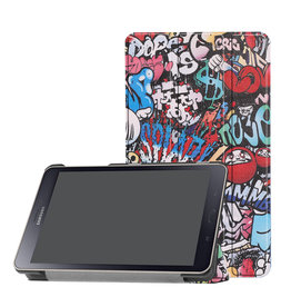 Lunso 3-Vouw sleepcover hoes - Samsung Galaxy Tab A 8.0 inch (2019) - Graffiti